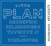 high quality detailed 'floor... | Shutterstock .eps vector #681142675