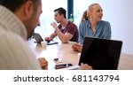 group of a young business... | Shutterstock . vector #681143794