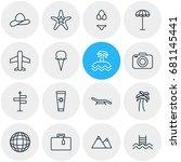 vector illustration of 16... | Shutterstock .eps vector #681145441