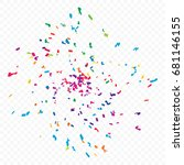 colorful confetti falling on... | Shutterstock .eps vector #681146155