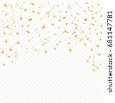 many falling luxury golden... | Shutterstock .eps vector #681147781