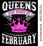 queens are born in february | Shutterstock . vector #681150121