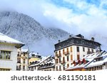 chamonix town in the mont blanc ... | Shutterstock . vector #681150181