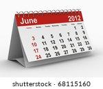 2012 Year Calendar. June....