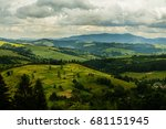 carpathian mountains | Shutterstock . vector #681151945