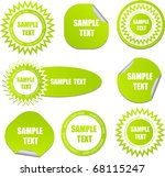 set of green stickers | Shutterstock .eps vector #68115247