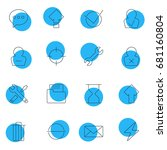 vector illustration of 16 user...