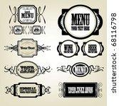 vector set  calligraphic label... | Shutterstock .eps vector #68116798
