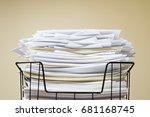 overflowing inbox | Shutterstock . vector #681168745