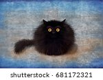 an unusual cute sorry card with ...   Shutterstock . vector #681172321