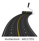road construction concept | Shutterstock . vector #68117251