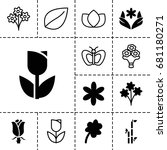 floral icon. set of 13 filled... | Shutterstock .eps vector #681180271
