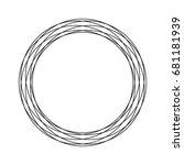 circle icon. | Shutterstock .eps vector #681181939