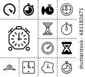 second icon. set of 13 filled...   Shutterstock .eps vector #681182671