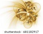 Abstract Fantastic Golden...