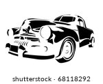 old vintage car isolated on... | Shutterstock .eps vector #68118292