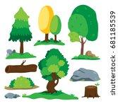 tree vector design | Shutterstock .eps vector #681185539
