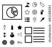 ui icon. set of 20 ui filled...
