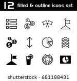 set of 12 ui filled and outline ...