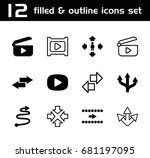next icon. set of 12 next... | Shutterstock .eps vector #681197095