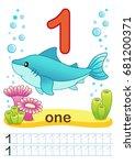printable worksheet for... | Shutterstock .eps vector #681200371
