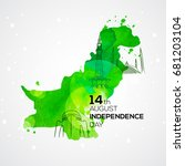 14th august . pakistan... | Shutterstock .eps vector #681203104