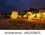 clifton beach   cape town ... | Shutterstock . vector #681203815
