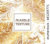 light white and golden marble... | Shutterstock .eps vector #681205771