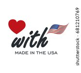 love with made in usa logo icon | Shutterstock .eps vector #681210769