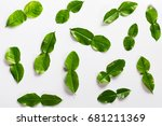 white background  bergamot leaf | Shutterstock . vector #681211369