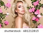 portrait of a beautiful ... | Shutterstock . vector #681212815