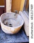 wooden sinks is vintage style... | Shutterstock . vector #681217489