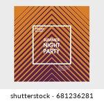 minimal poster design....   Shutterstock .eps vector #681236281