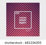 minimal poster design....   Shutterstock .eps vector #681236305