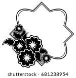 black and white silhouette... | Shutterstock .eps vector #681238954
