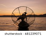 Fisherman On The Inle Lake At...