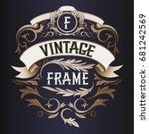 vector frame   vintage text... | Shutterstock .eps vector #681242569