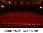 empty red cinema hall seats ...   Shutterstock . vector #681249505