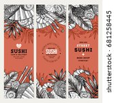sushi cafe and restaurant... | Shutterstock .eps vector #681258445