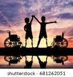 children's disability concept....   Shutterstock . vector #681262051