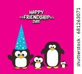 happy friends day background... | Shutterstock .eps vector #681263071