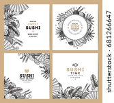 sushi cafe and restaurant... | Shutterstock .eps vector #681266647