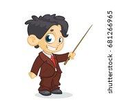 cartoon little cute  boy... | Shutterstock .eps vector #681266965