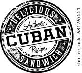 vintage cuban sandwich menu... | Shutterstock .eps vector #681269551