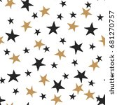starry background. black and... | Shutterstock .eps vector #681270757