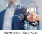 key performance indicator  kpi  ...   Shutterstock . vector #681274951