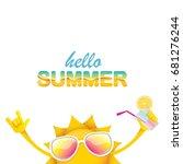 hello summer rock n roll vector ... | Shutterstock .eps vector #681276244
