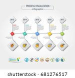 collection of vector... | Shutterstock .eps vector #681276517
