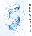 water splash in the form of... | Shutterstock . vector #681277537