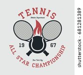 tennis sports apparel with... | Shutterstock .eps vector #681281389